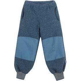Finkid Retki Sport Verstärkte Strickfleece Hose Kinder blue mirage